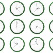 Empty 12 clocks - No digits. — Stock Photo