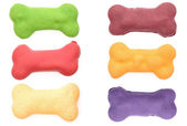 Colored dog biscuits — Stock Photo