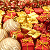 Christmas ornaments close-up — Stok fotoğraf