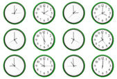 Learning time - Pair numbers, green. — Stock Photo