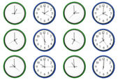 Learning time - Pair numbers, blue. — Stock Photo