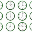 Stock Photo: Learning time - odd numbers, green.