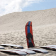 Sandboards and dunes — Lizenzfreies Foto