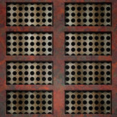 Rusty grid (Seamless texture) — Stock Photo