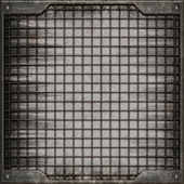 Grunge manhole cover (Seamless texture) — Stock Photo