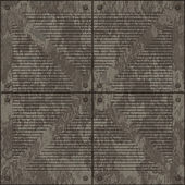 Dirty manhole cover (Seamless texture) — Photo