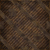 Rusty manhole cover (Seamless texture) — 图库照片