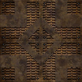 Bumped manhole cover (Seamless texture) — Stock fotografie