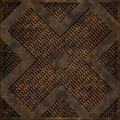 Diagonal cross manhole cover (Seamless texture) — Stok fotoğraf