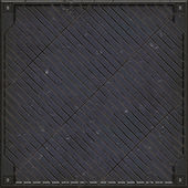Heavy manhole cover (Seamless texture) — ストック写真