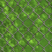 Chainlink fence and forest (Seamless texture) — Stock Photo
