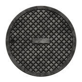 City sewer cover — Stock Photo