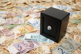Safe and Brazilian money — Stock Photo