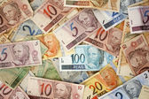Brazilian money background — Stock Photo
