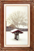 Gallery serie - Snowing day — Stock Photo