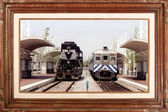 Gallery serie - Trains — Stock Photo