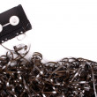 Coiled audio tape — Stock Photo