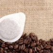 Coffee sachet — Stock Photo