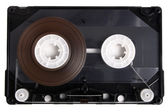 Inside audio cassette — Stock Photo
