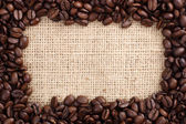Coffee beans as frame — Stock Photo