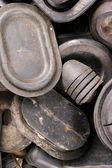 Spotřebovaných kaučuky — Stock fotografie