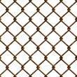 Rusty fence seamless texture — Stock Photo