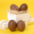 Easter chococart - Stock Photo