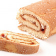 Stock Photo: Swiss roll cake
