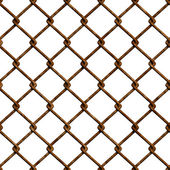 Textura perfecta valla oxidada — Foto de Stock