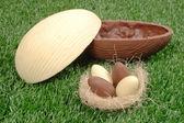Easter W&B egg — Stock Photo