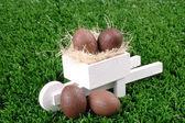 Chocolate e carrinho de mão — Foto Stock