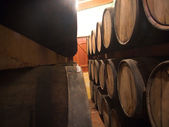 Aged barrels — Stock Photo