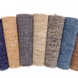 Colorful carpet rolls - Stock Photo