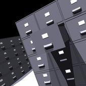 Armários de arquivo - 3d — Foto Stock