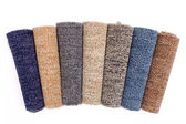 Colorful carpet rolls — Stock Photo