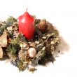 Candle Decoration for xmas — Stock Photo