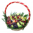 Foto de Stock  : Basket of fruits