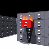 Hot files in a cabinet - 3D — Stock Photo