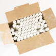 Stock Photo: White chalks in box