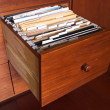 Wooden file cabinet — Stock Photo