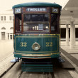 Antique trolley restored — Stock Photo
