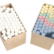 Stock Photo: Chalks in boxes