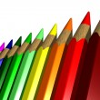 Colored Pencils - 3D — Stock Photo