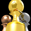 Three trophies (3D) — Stock Photo
