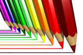 Coloring pencils (3D) — Stock Photo