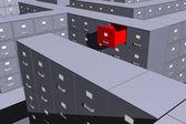 Hot files (3D) — Stock Photo