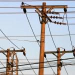 Energy distribution - Posts — Stock Photo