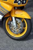 Asphalt Motorcycle — Stock Photo