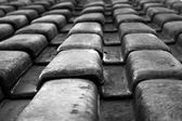 B&W roof — Stock Photo