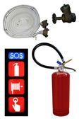 Extinguisher set — Stock Photo